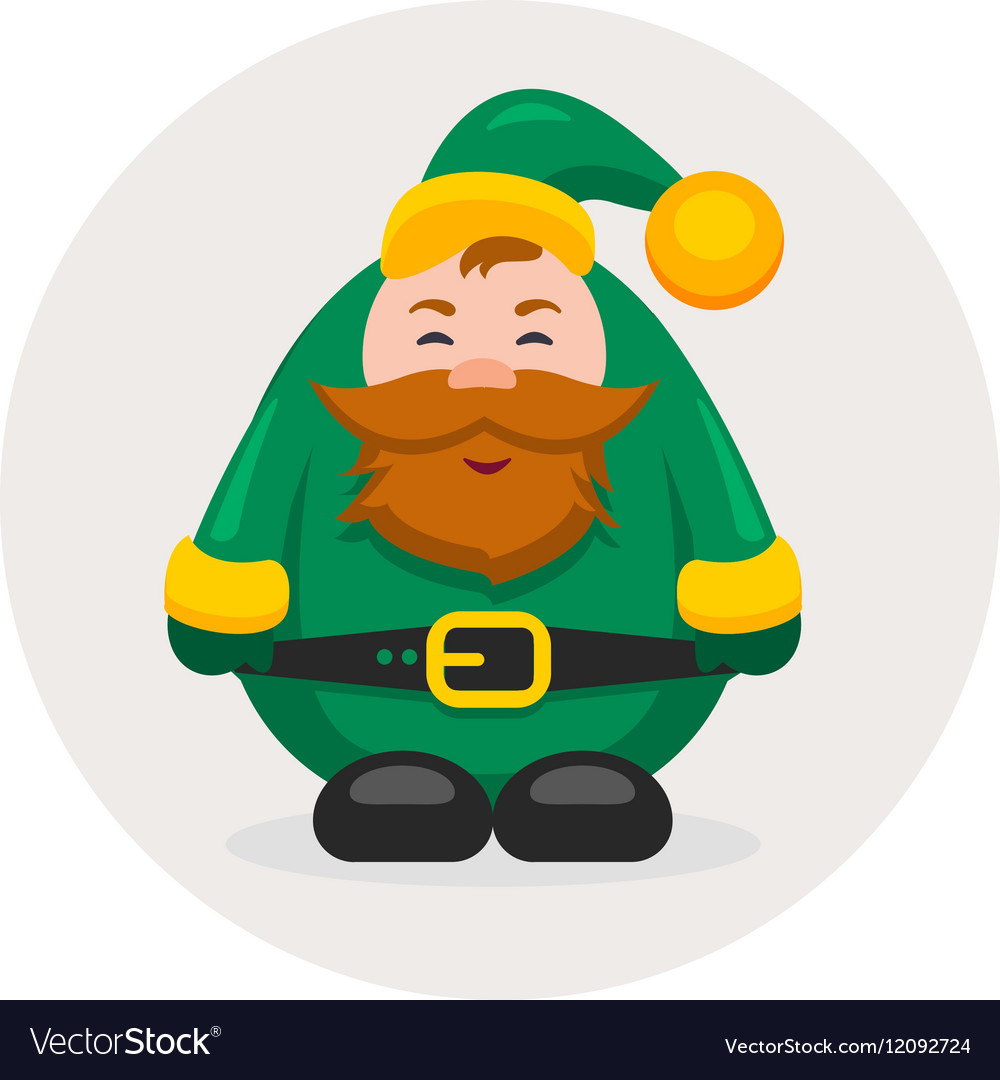 New year and Christmas adult dwarf