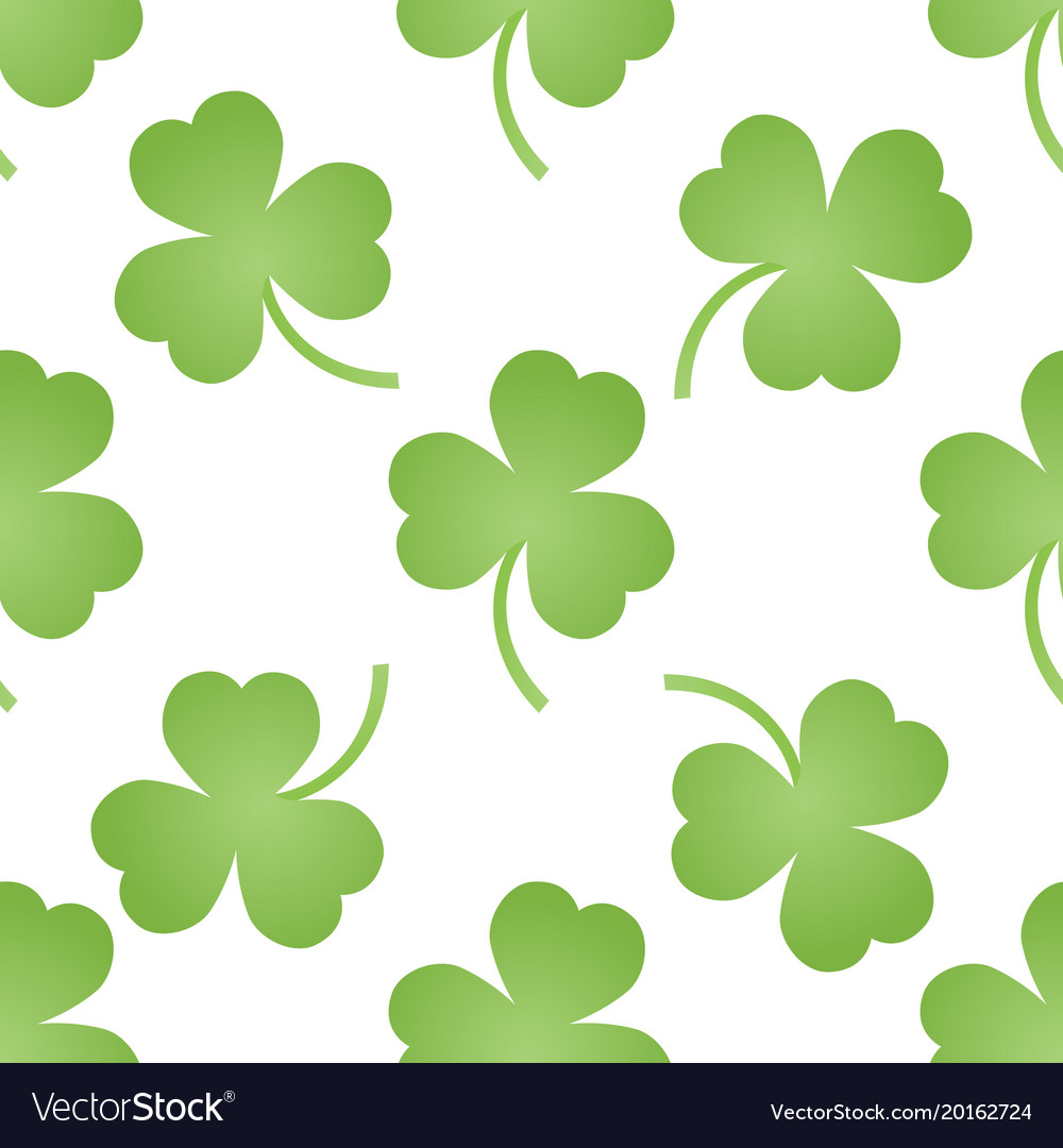 Pattern with green clovers