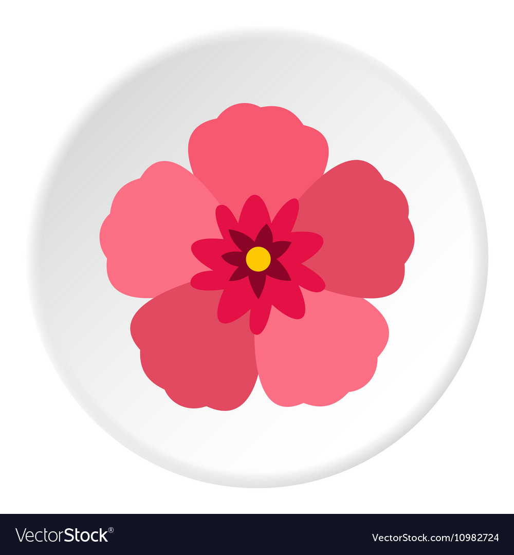 rose of sharon korean flower icon flat style vector image