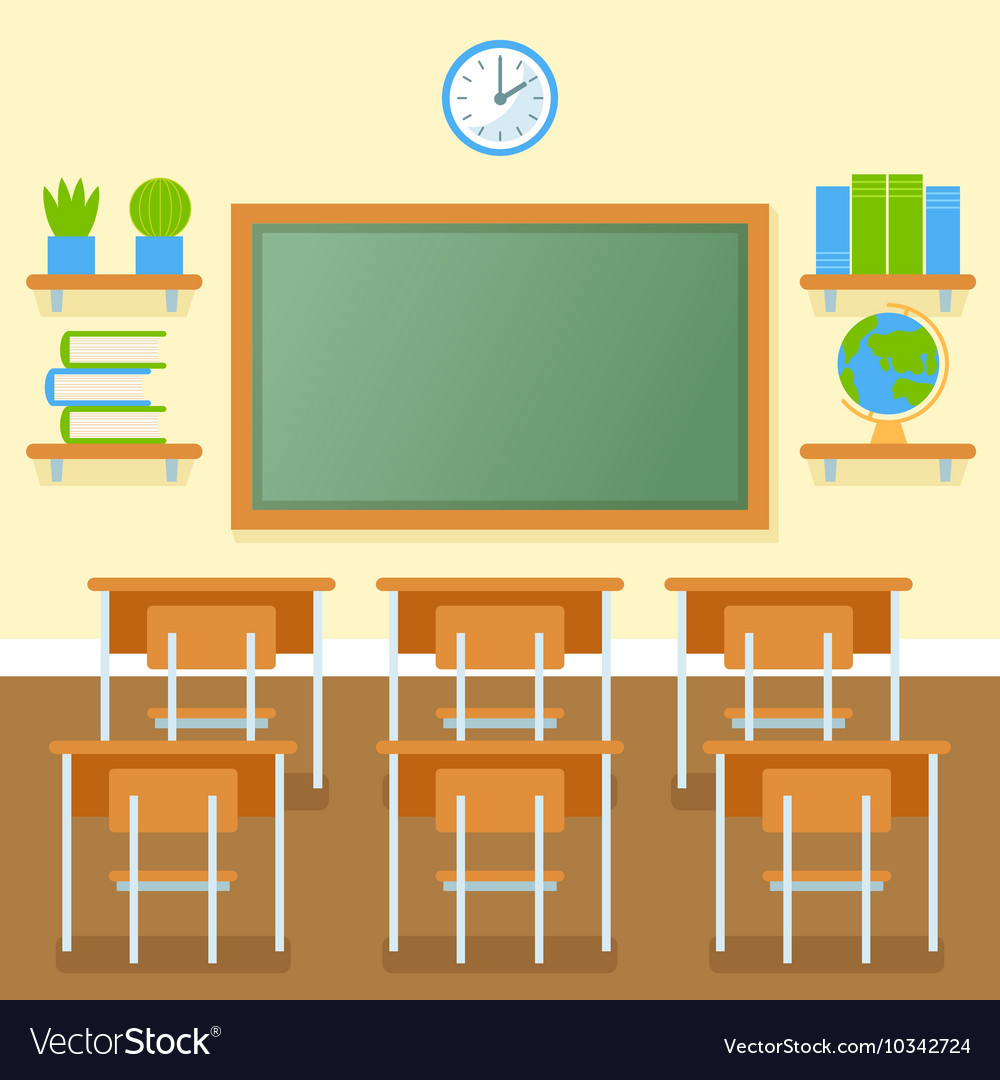 classroom with chalkboard