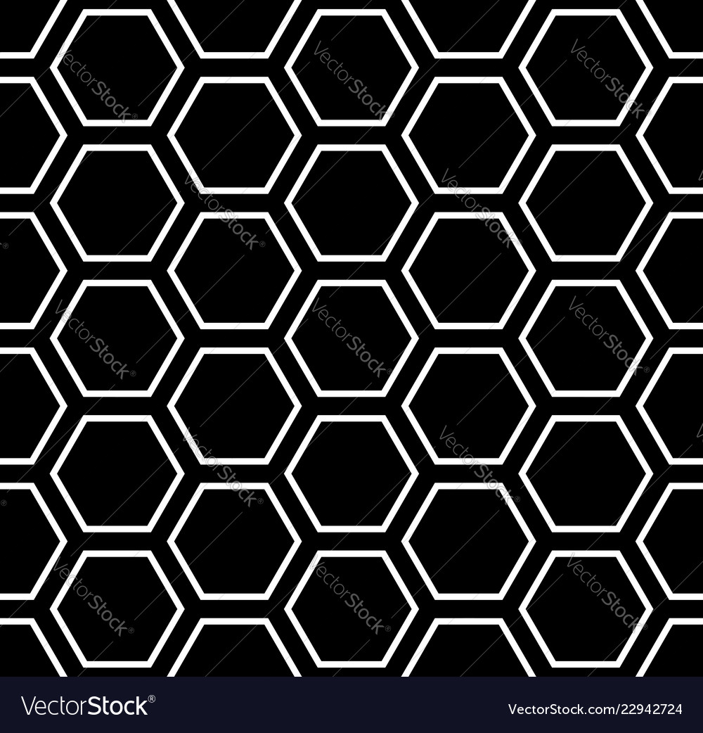 Seamless hexagons pattern