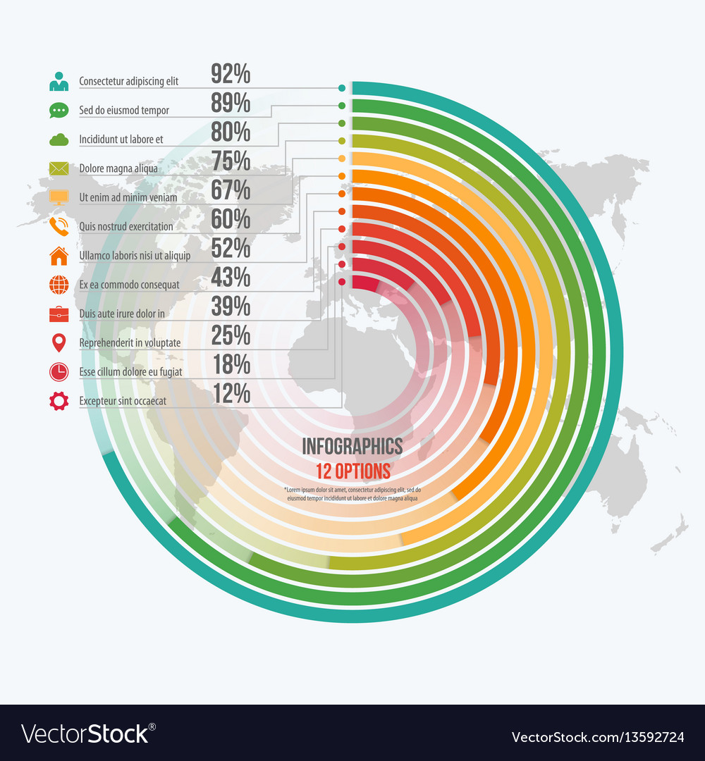 Template for circle informative infographics
