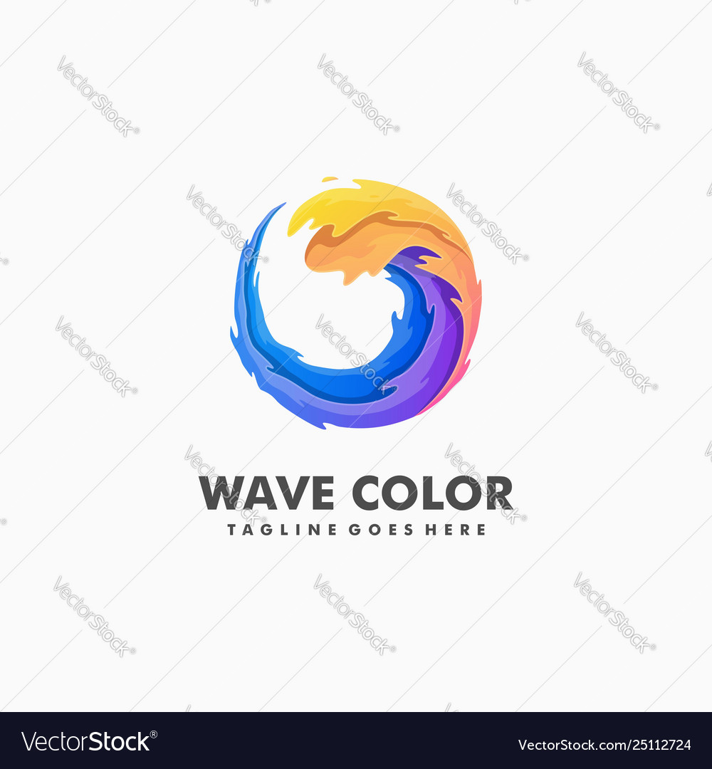 Wave colorful sport concept design