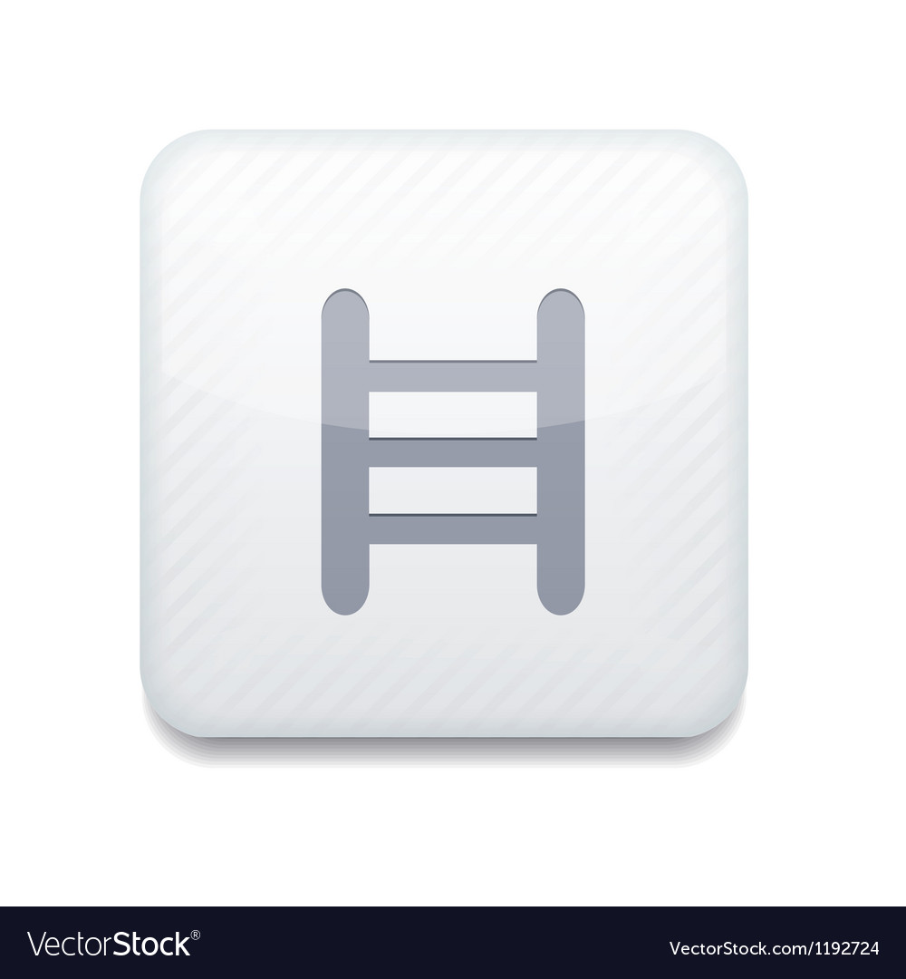 White ladder icon Eps10 Easy to edit vector image