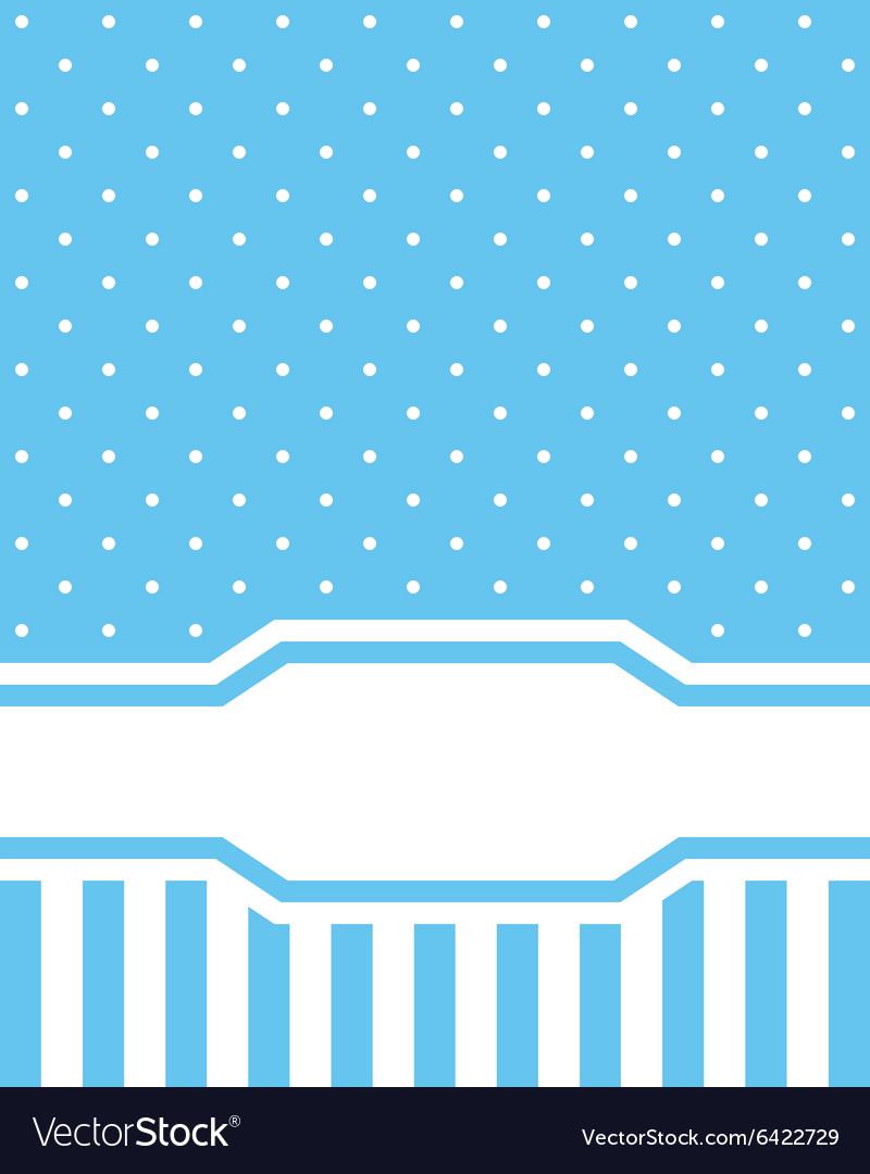 Card invitation blue vector image