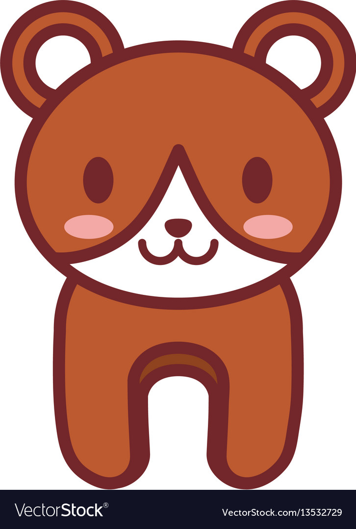 Cartoon brown bear animal image