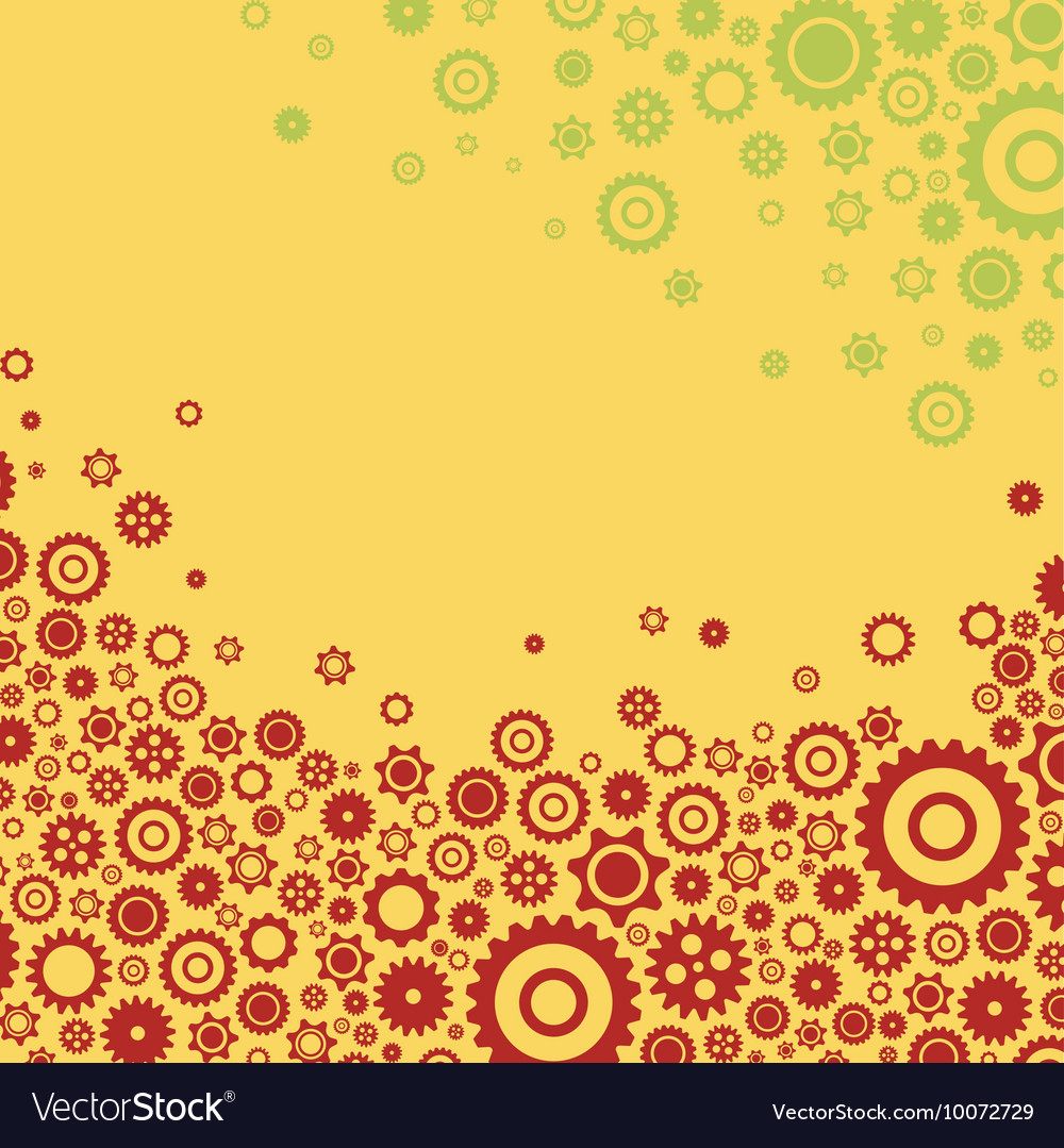 Colourful gears background flat design for cards