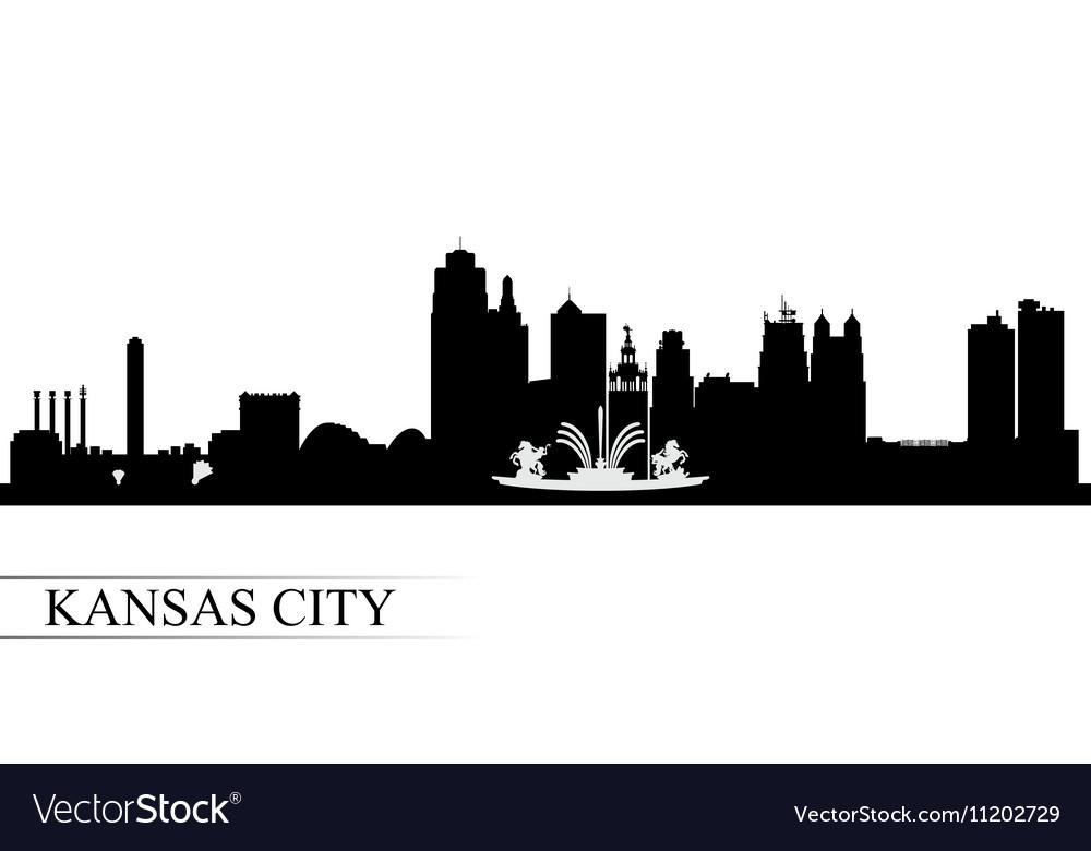 Kansas City skyline silhouette background vector image