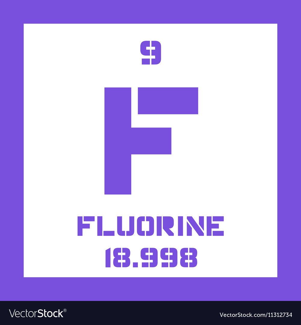 Fluorine Chemical Element Royalty Free Vector Image