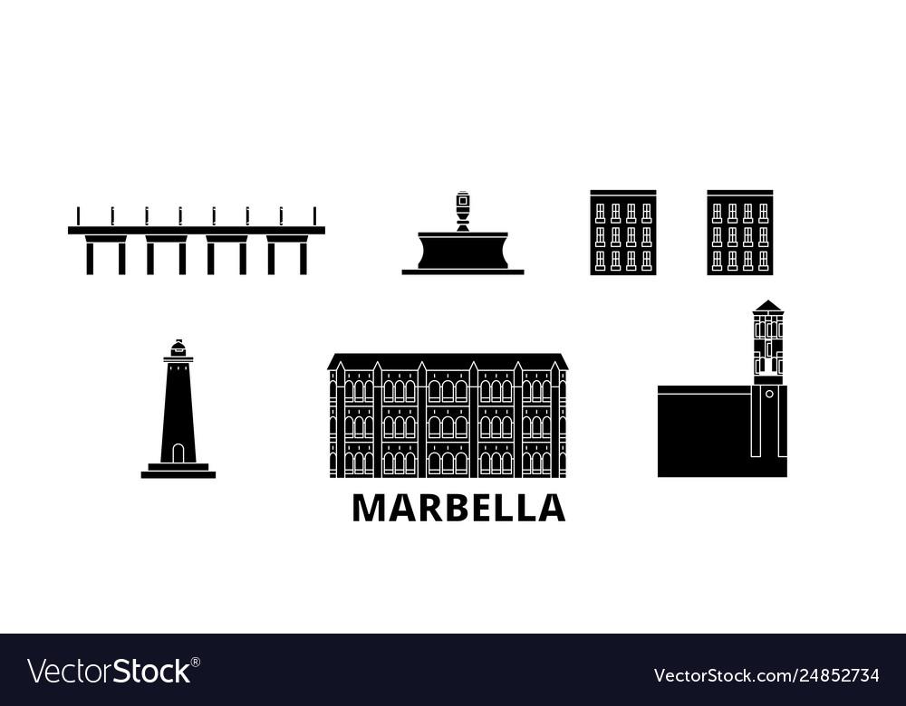 Spain marbella flat travel skyline set spain