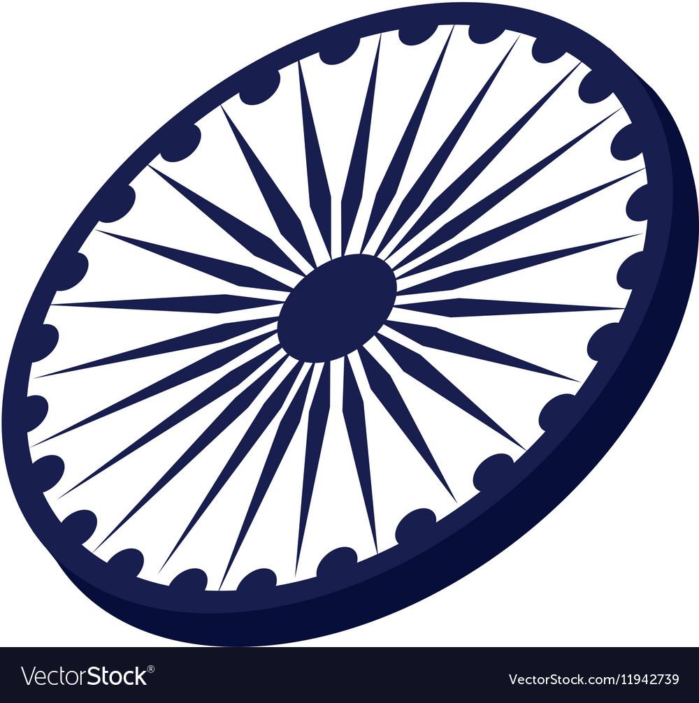 Ashoka Chakra symbol Royalty Free Vector Image 5511496d7862