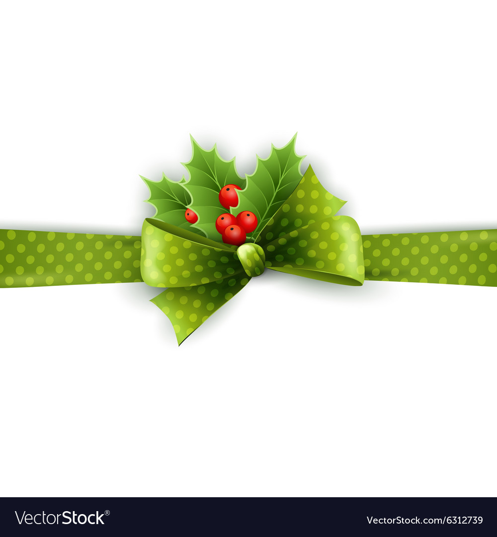Christmas ribbon decoration vector image