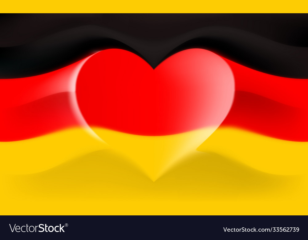 Germany with love germany national flag