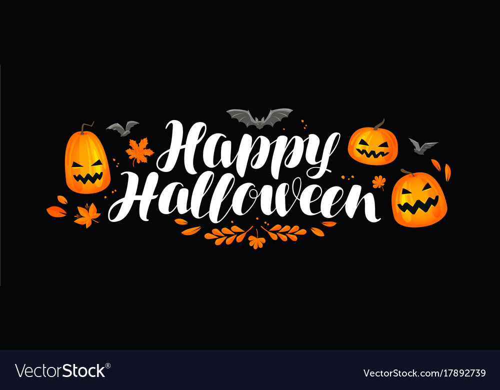 Halloween banner greeting card pumpkin holiday