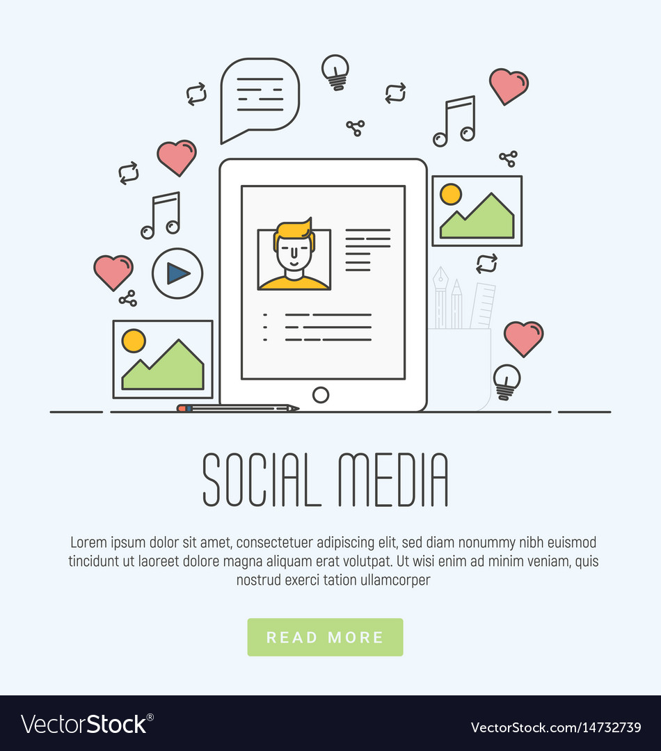 Infographics of social media networking marketing