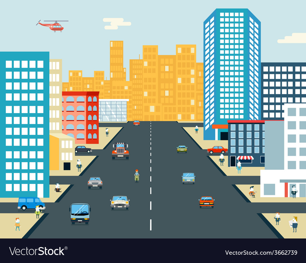 Live City Street People Life Car Ride Background