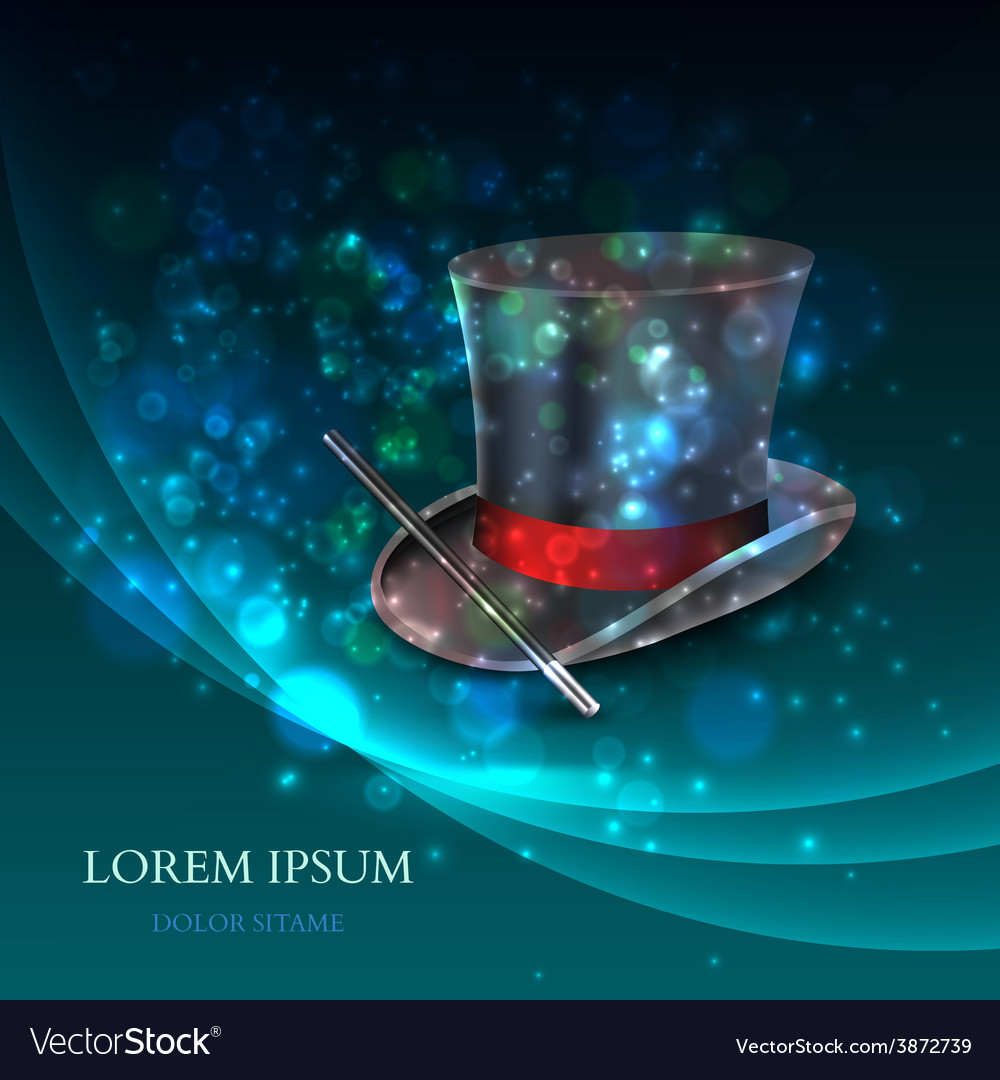 Magician Top Hat with magic particles