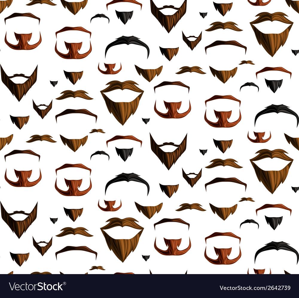 Mustache seamless vector image