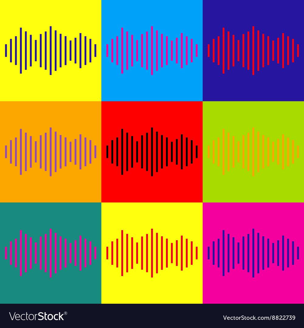 Sound waves icon vector image