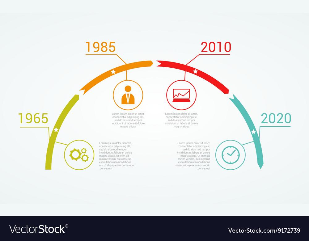 Timeline Infographic design template