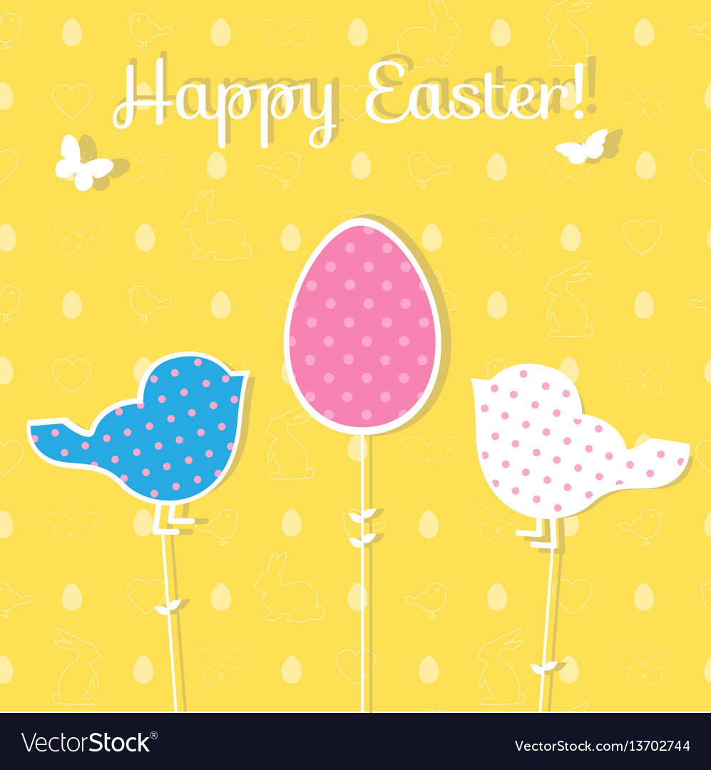 Easter paper decoration in the form of egg and