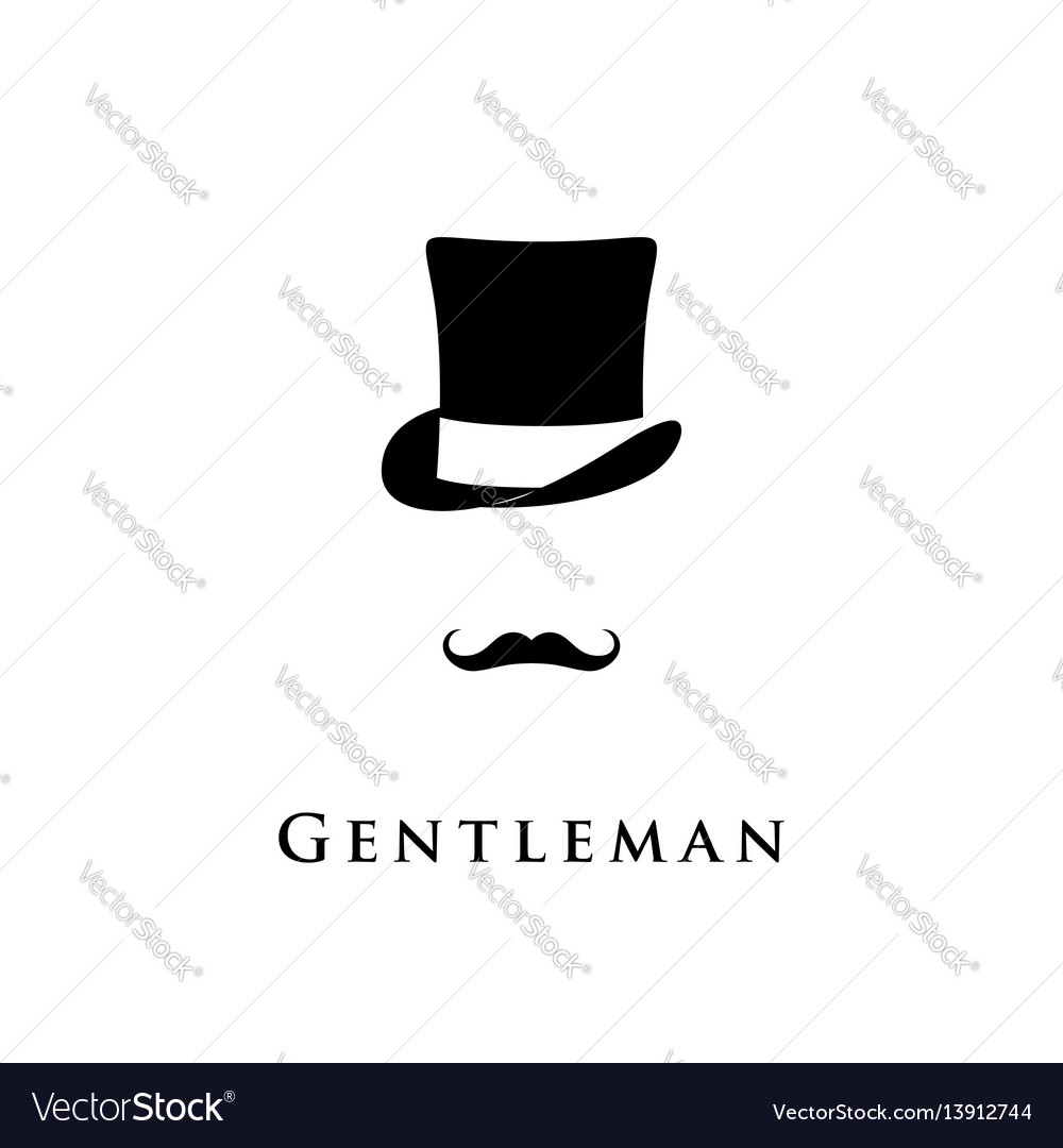 Gentleman icon isolated on white background