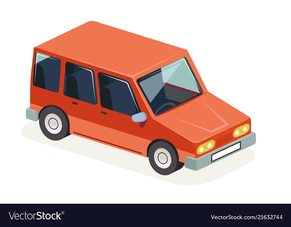 Isometric car vehicle transport icon design