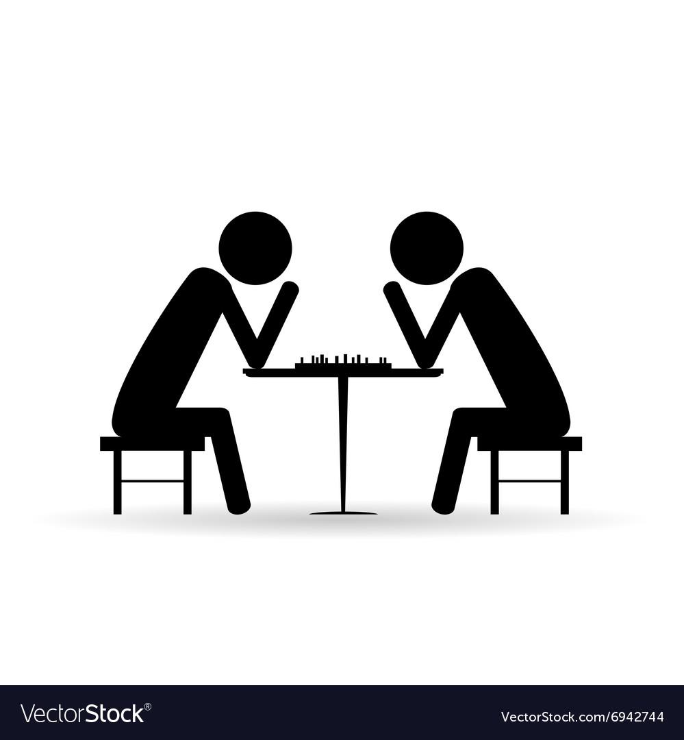 People chess symbol black