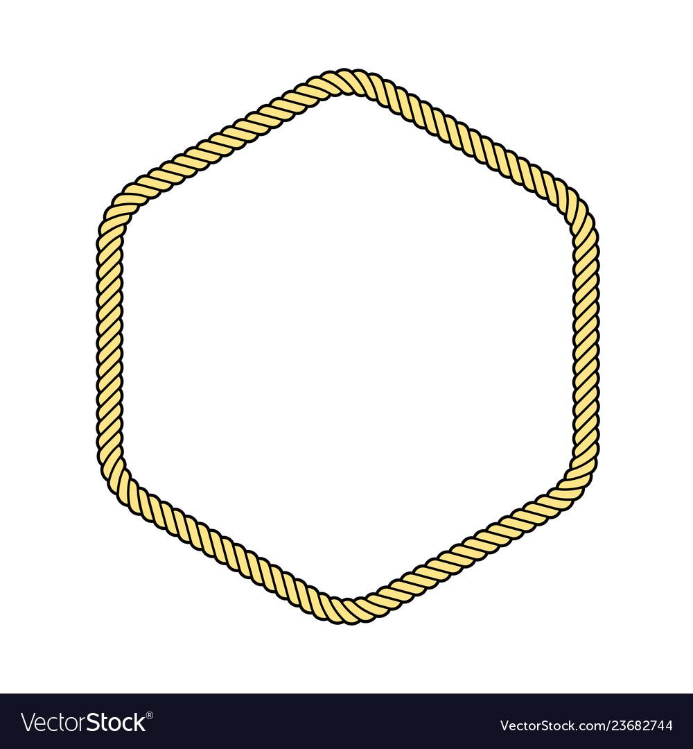 Rope frame hexagon