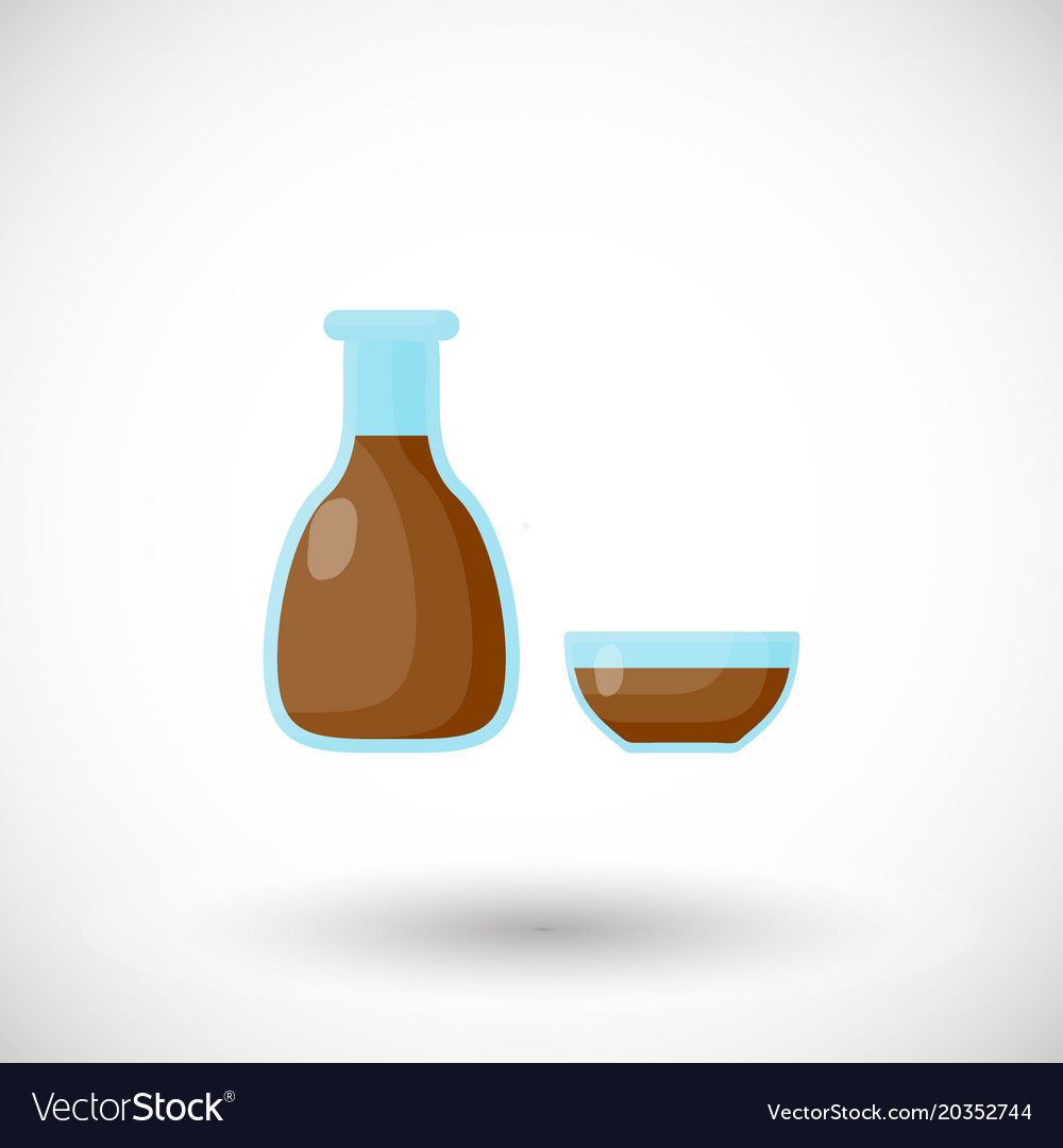 Soy sauce flat icon vector image