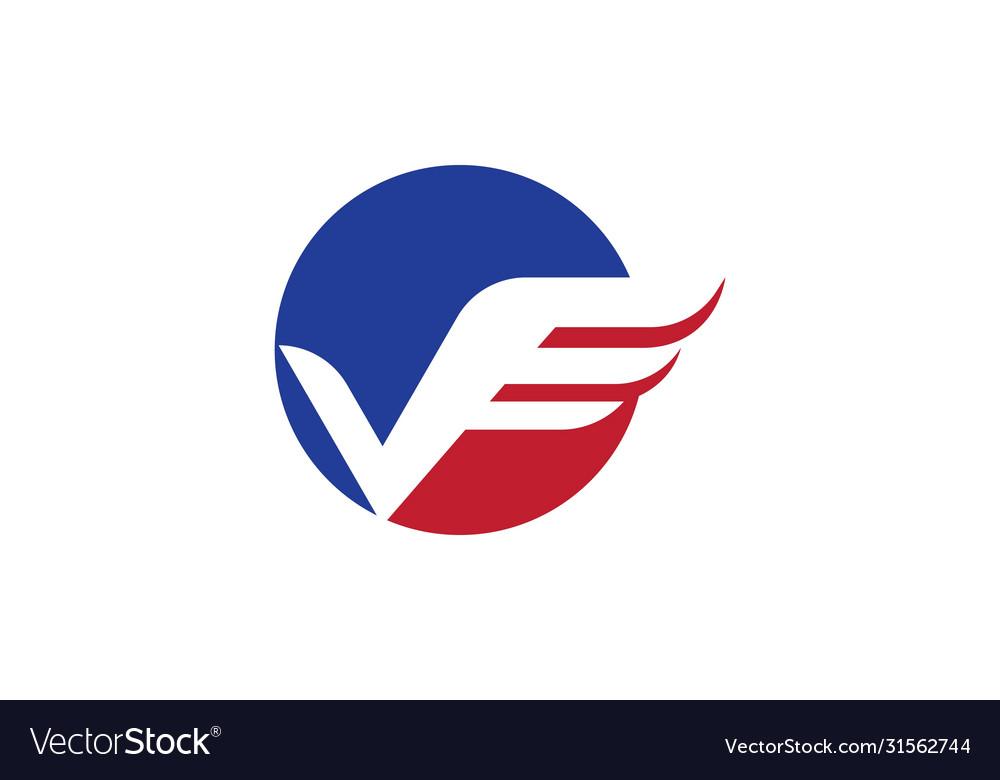 V letter wing logo
