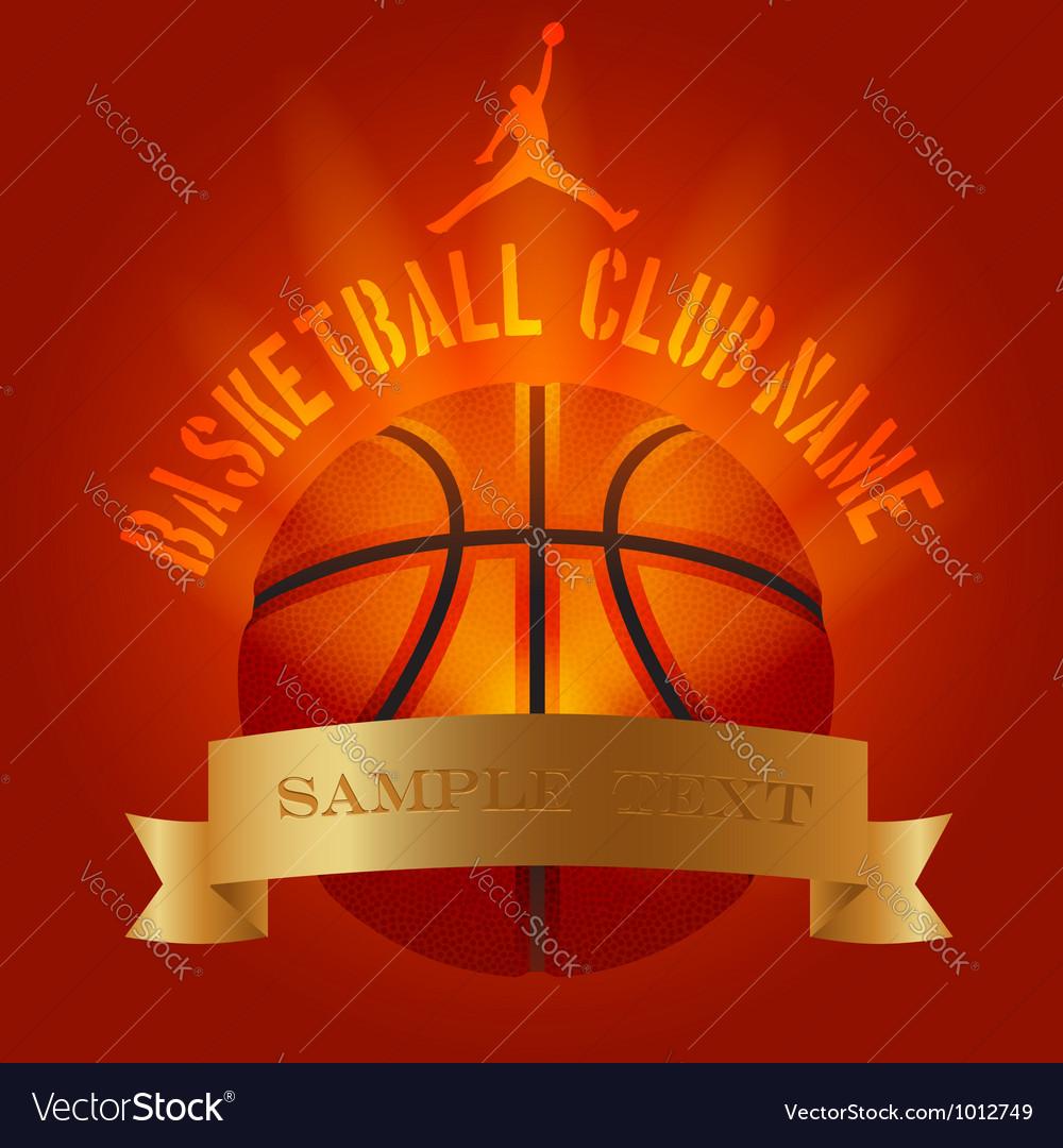 Basketball club generic set vector image