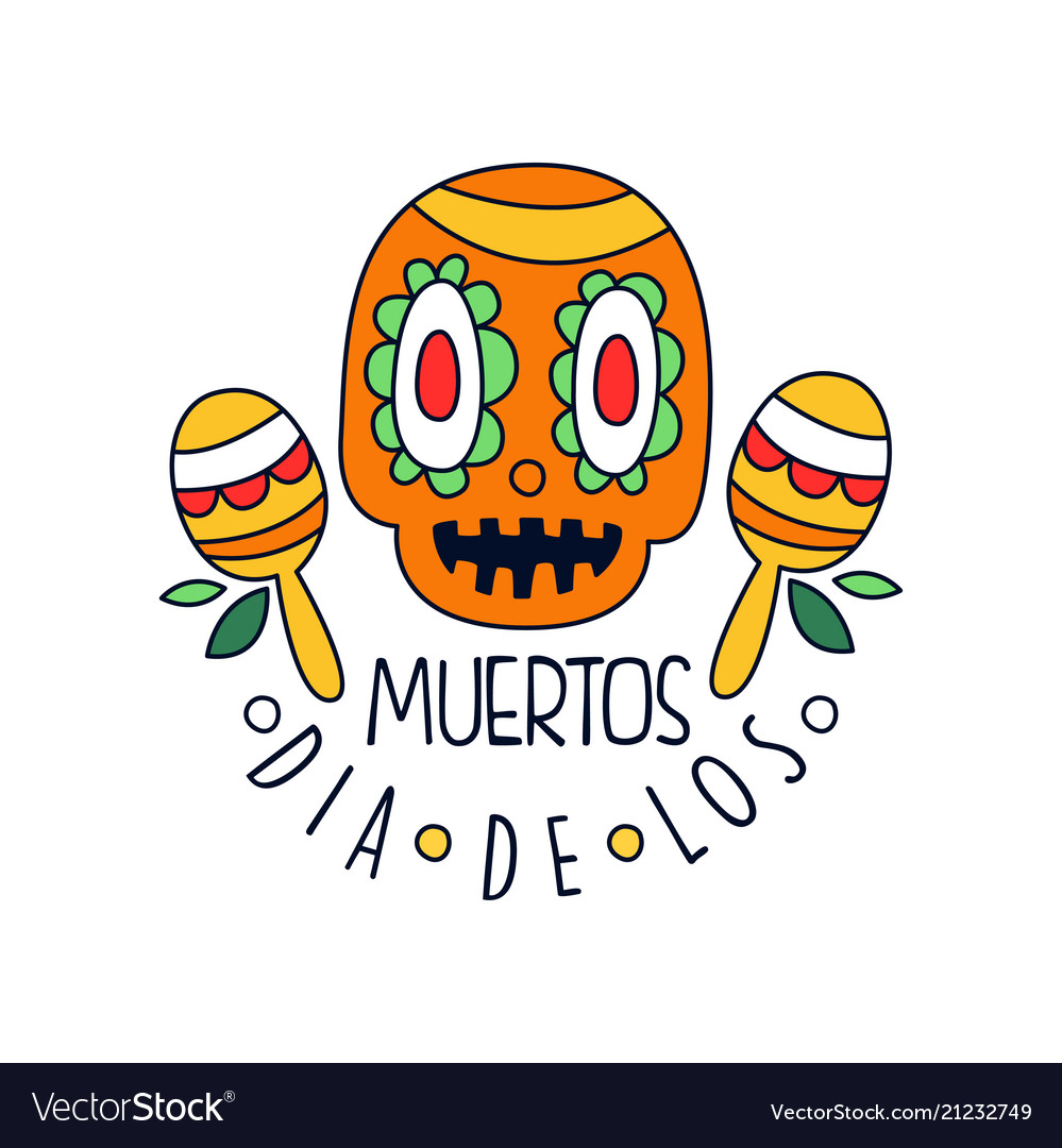 Dia de los muertos logo mexican day of the dead