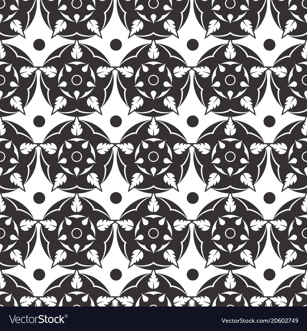 Elegant abstract flower seamless pattern grey