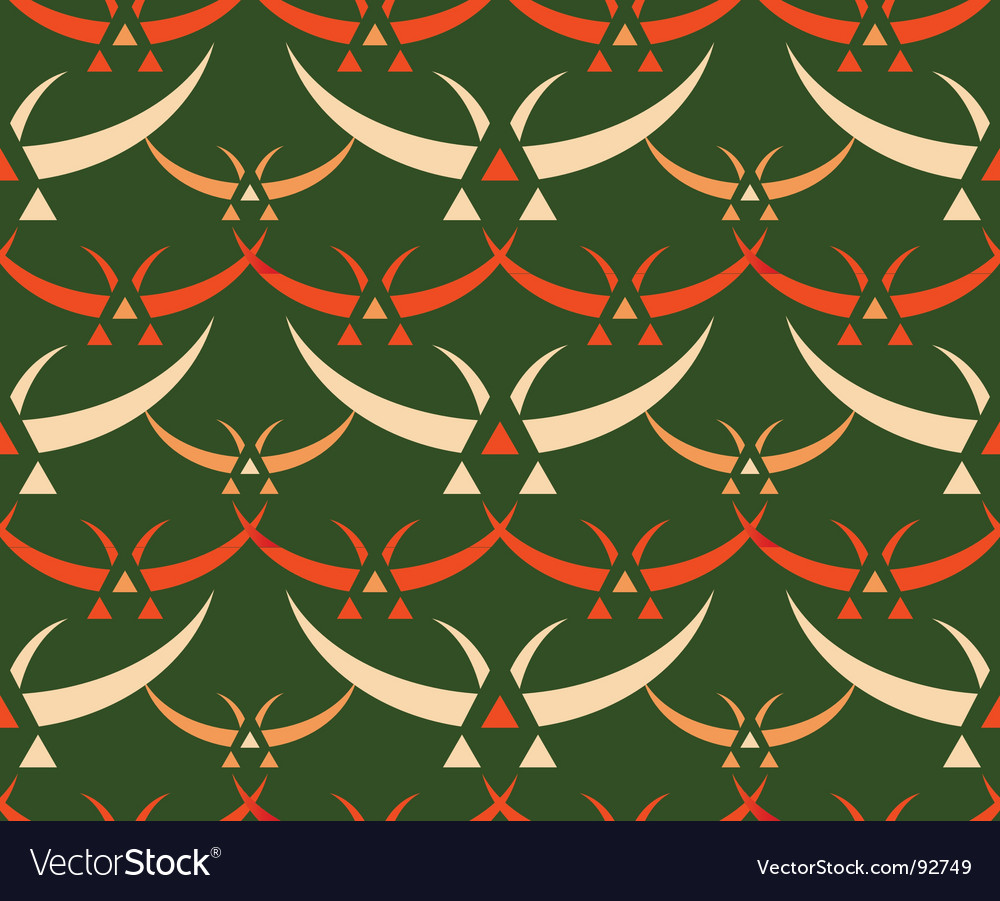Japanese birds pattern vector image