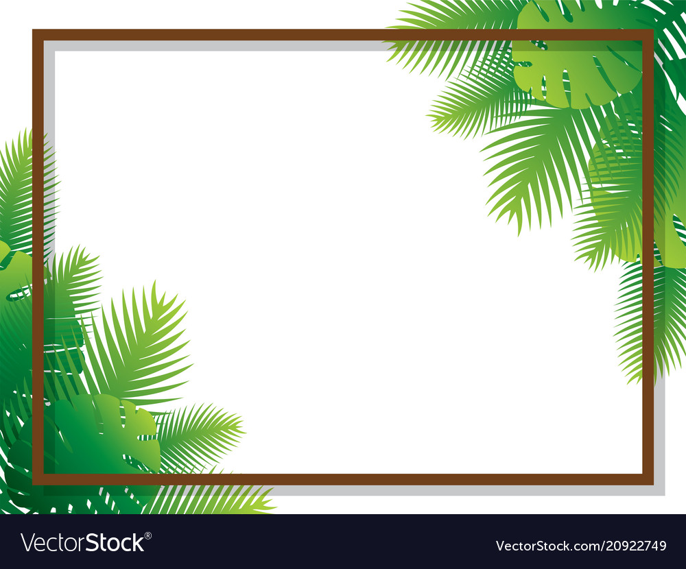 Sale banner poster design with palm leaves