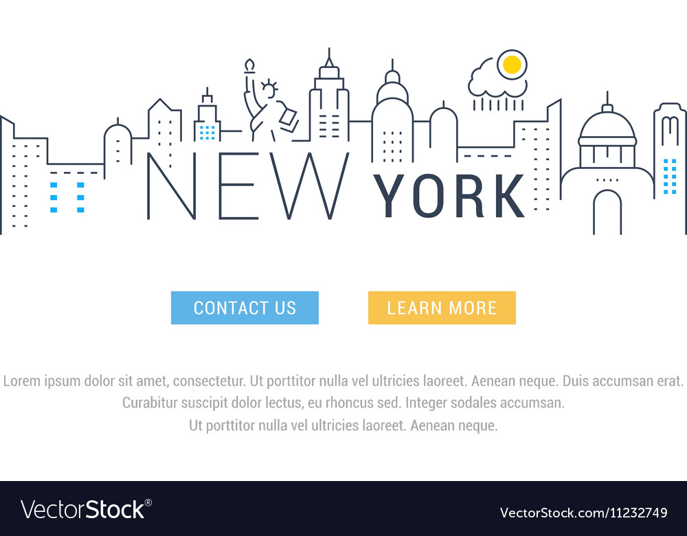 Website Banner and Landing Page New York