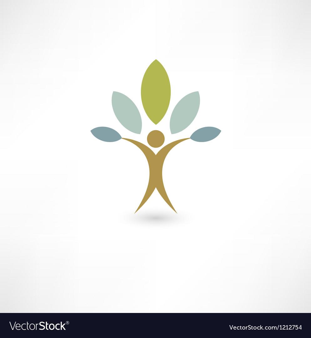Eco people vector image