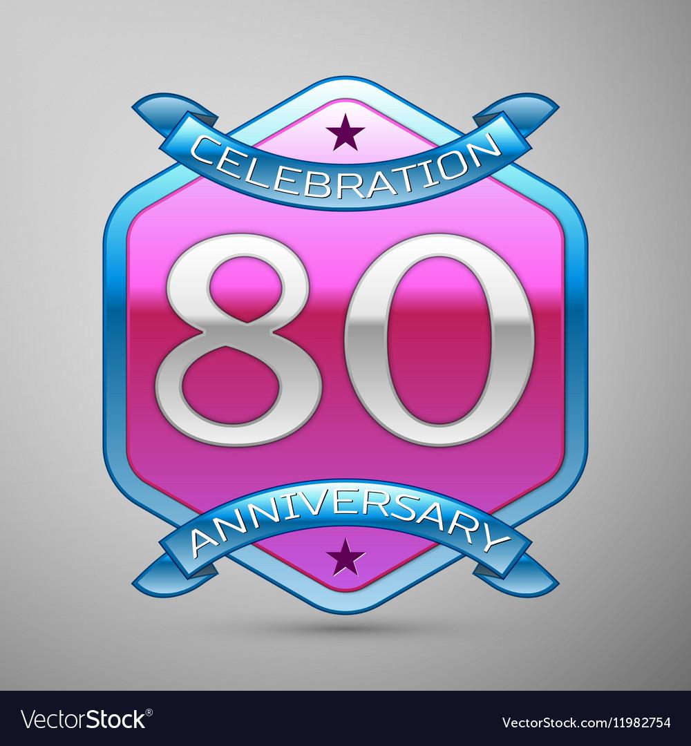 Eighty years anniversary celebration silver logo