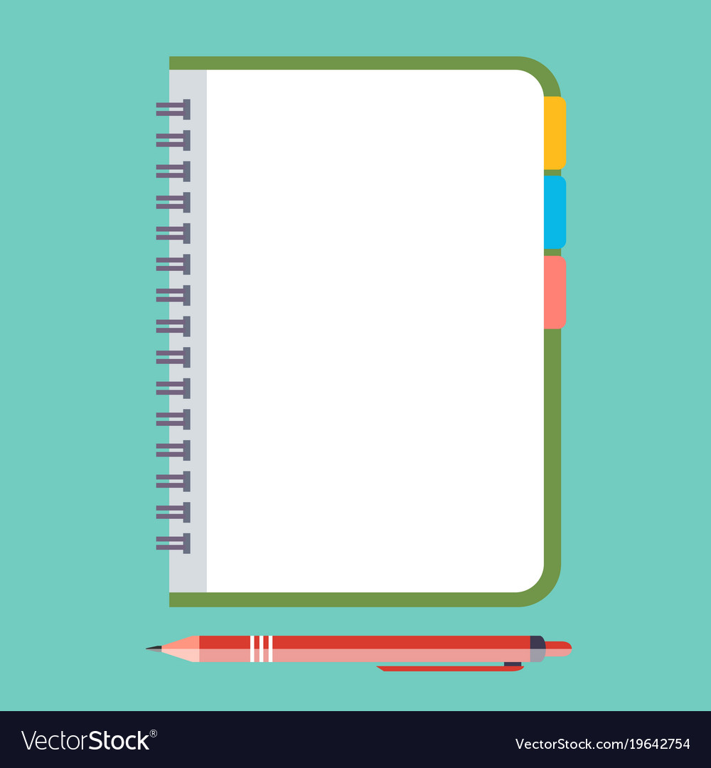 Empty notepad with pen