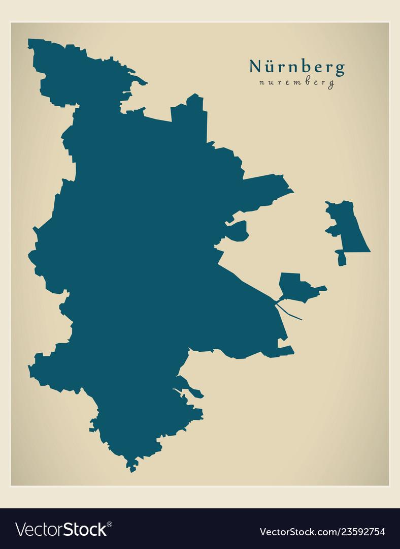 Nuremberg Map Of Germany.Modern Map Nuremberg City Of Germany De
