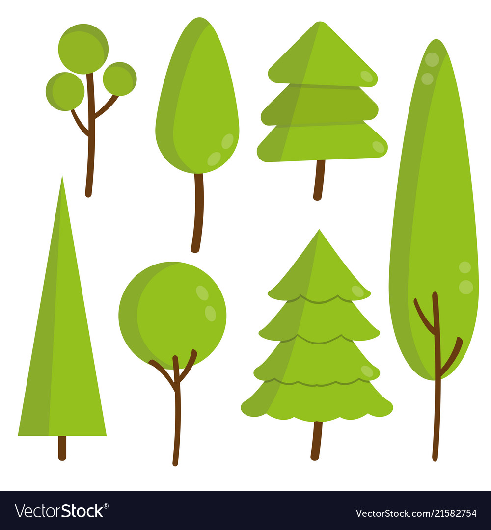Trees and pine sprites for the game forest