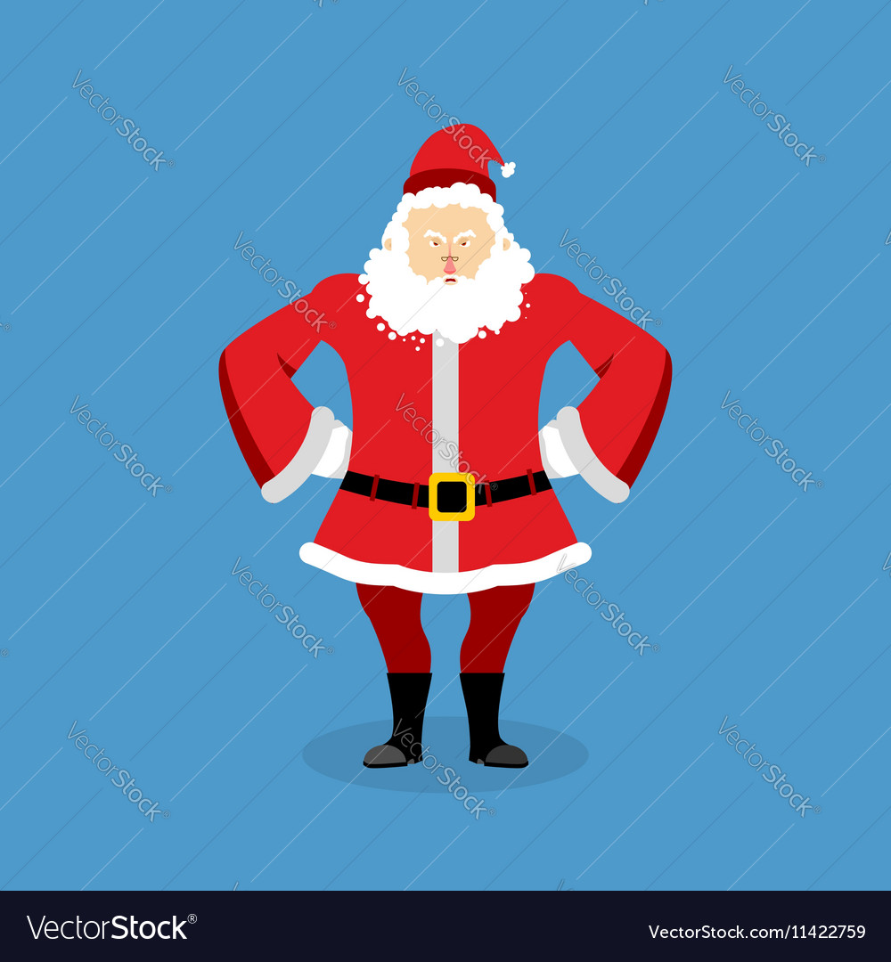 8af6451d47b4b Angry Santa Claus Aggressive grandfather with Vector Image