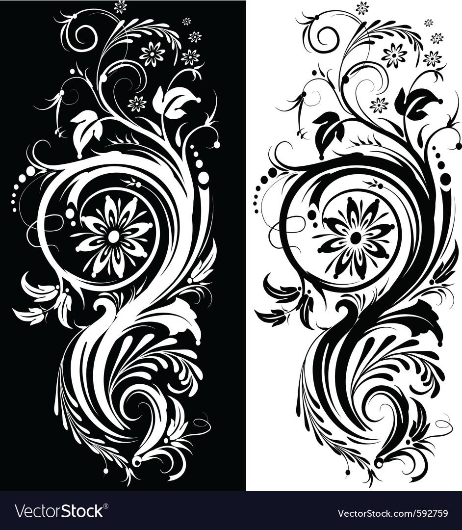 Black white ornament