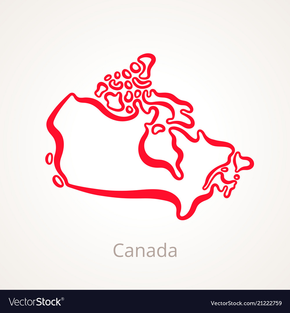 Canada - outline map on physical map of canada, detailed map of canada, physical features of canada, blank map of canada, major languages of canada, isoline map of canada, population pyramid of canada, trace map of canada, map of us and canada, labeled map of canada, climate map of canada, time map of canada, national symbols of canada, airport map of canada, resource map of canada, solid map of canada, open map of canada, large map of canada, identify map of canada, simple map of canada,