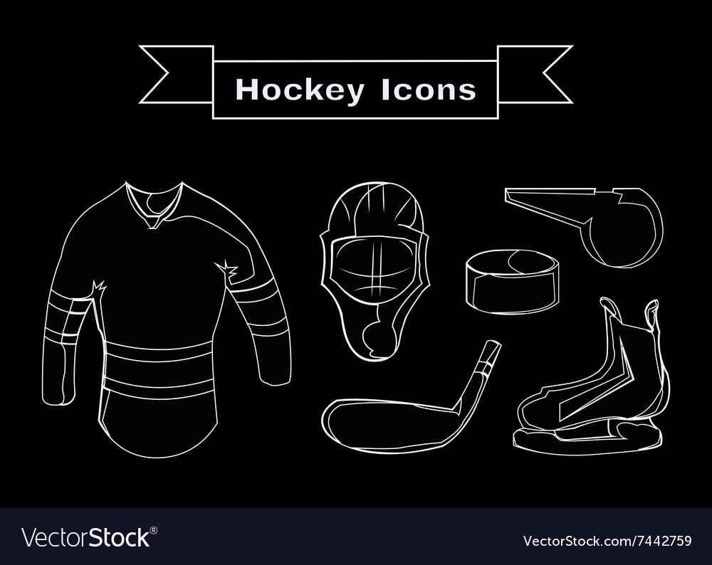 Hockey Sportswear Objects Line art