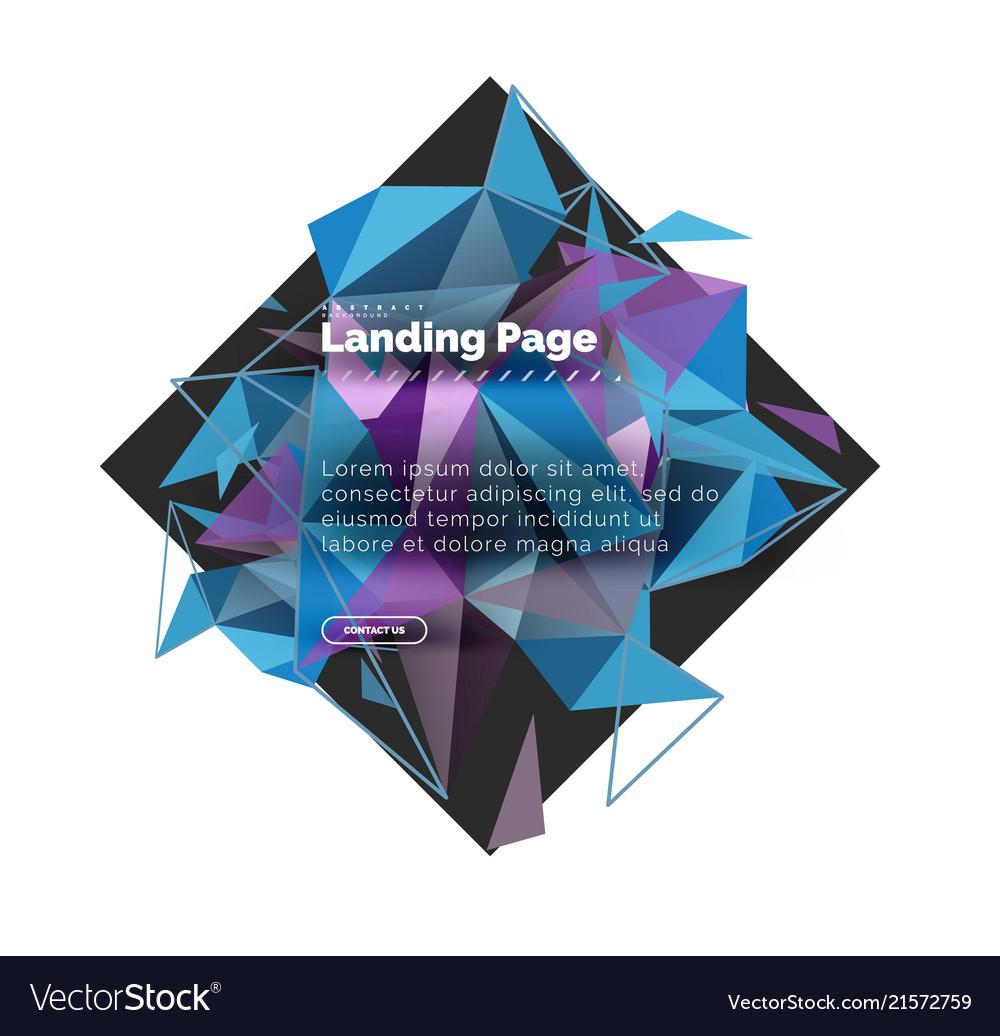 Triangular design abstract background landing