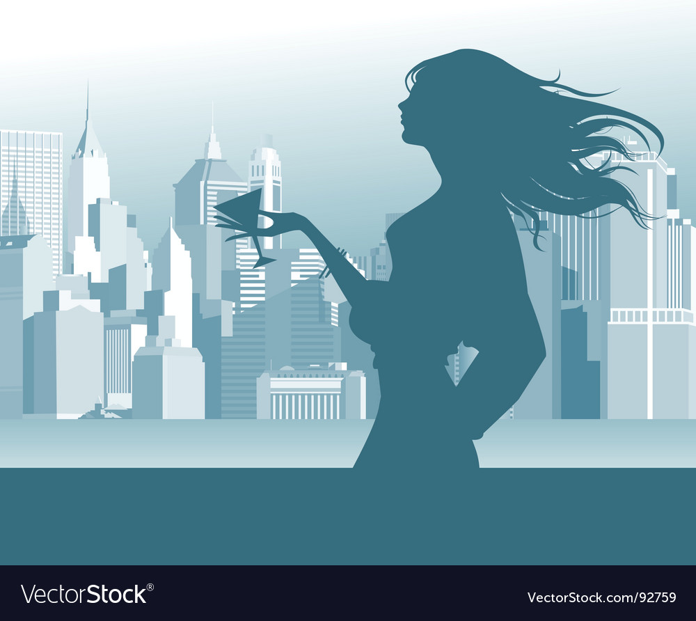 Women in the street vector image