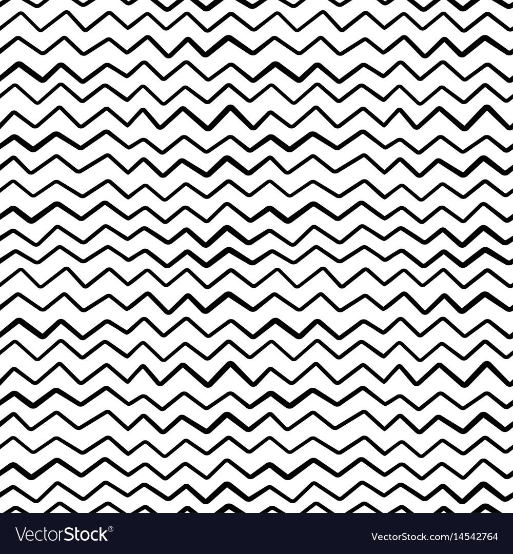 Abstract hand draw seamless zig zag pattern
