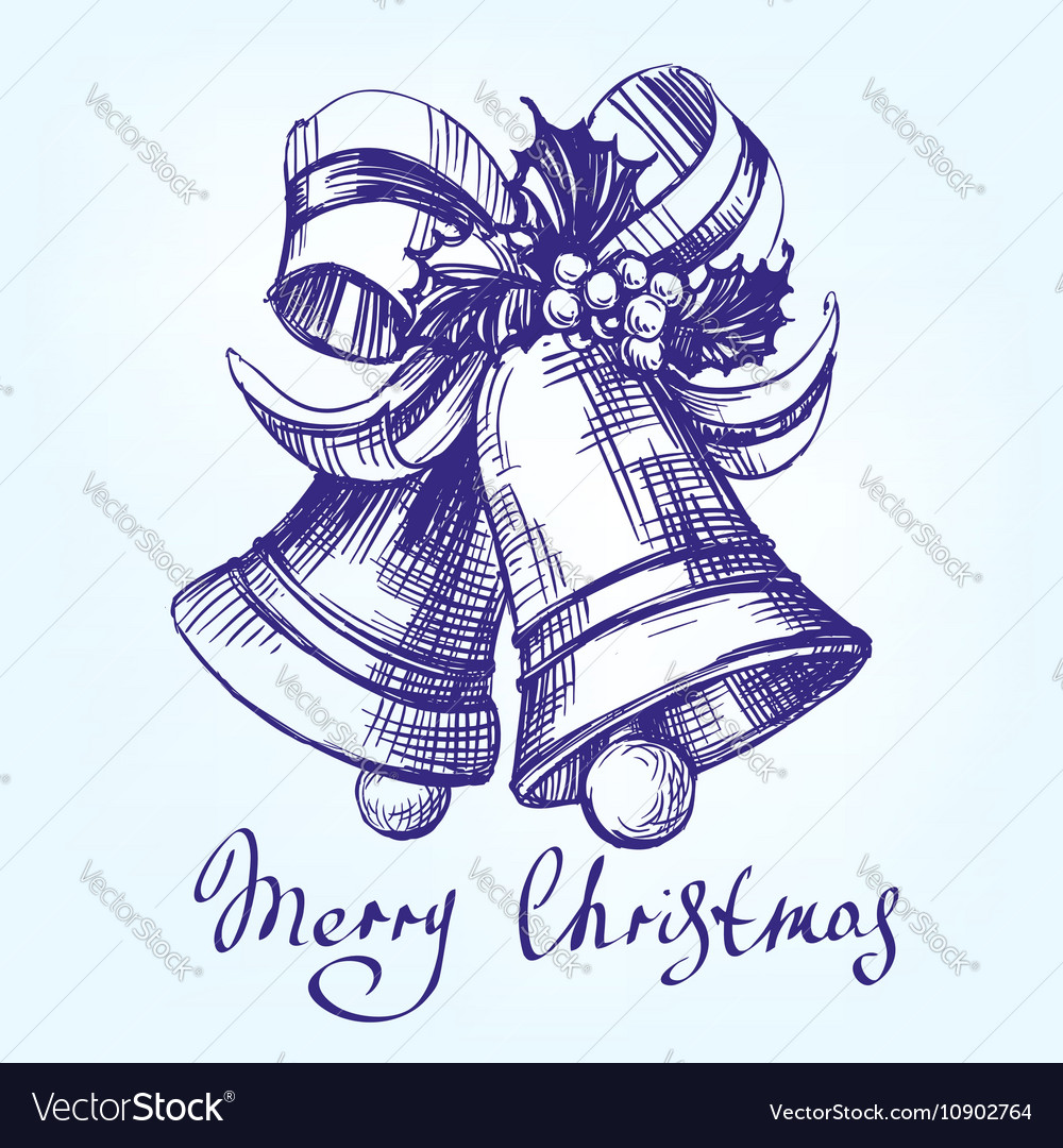 Christmas bells hand drawn llustration